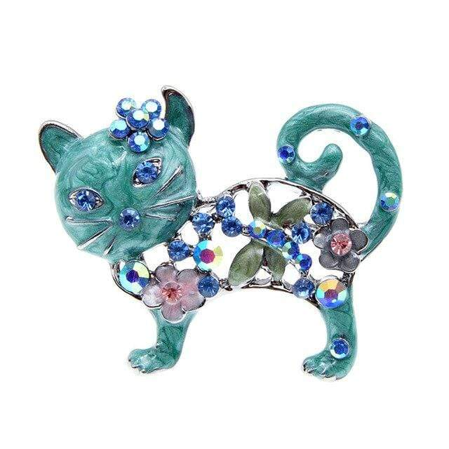 "CINDY XIANG Official Store Broches blue Broche ""CHAT STRASS"" ""LE BOULEDOGUE FRANÇAIS""™"
