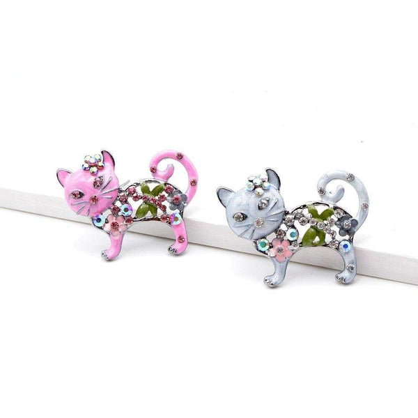 "CINDY XIANG Official Store Broches Broche ""CHAT STRASS"" ""LE BOULEDOGUE FRANÇAIS""™"
