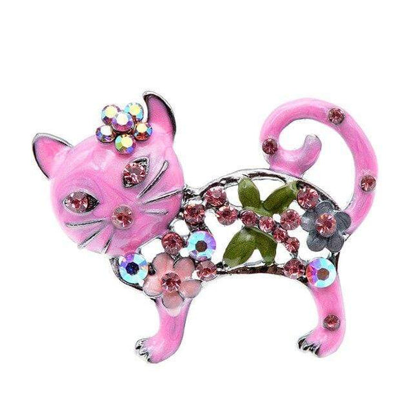 "CINDY XIANG Official Store Broches pink Broche ""CHAT STRASS"" ""LE BOULEDOGUE FRANÇAIS""™"