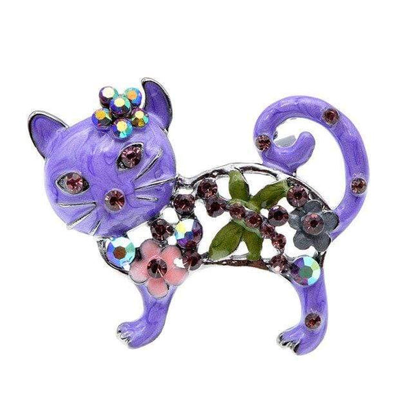"CINDY XIANG Official Store Broches purple Broche ""CHAT STRASS"" ""LE BOULEDOGUE FRANÇAIS""™"