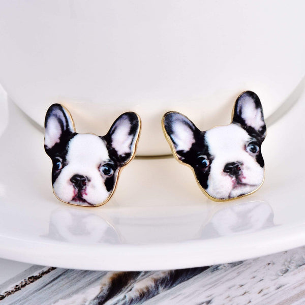 Katastimachling Boucles d'oreilles Puppy Drip print dog earrings