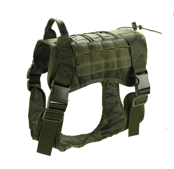 Katastimachling Harnais Army Green / XL Tactical large dog vest dog patrol equipment pet dog clothes K9 chest strap