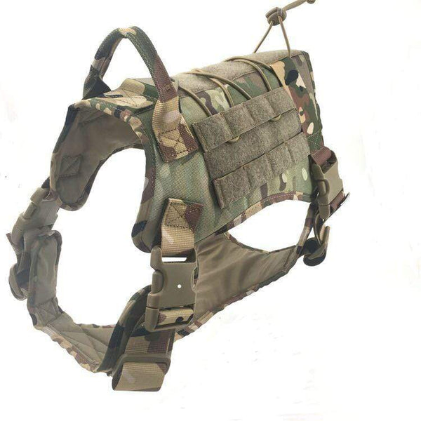 Katastimachling Harnais Camouflage / XL Tactical large dog vest dog patrol equipment pet dog clothes K9 chest strap