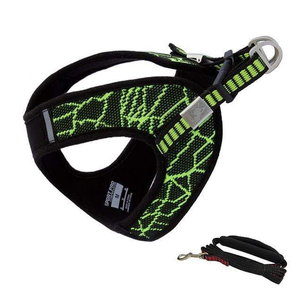 Katastimachling Harnais Green / Suit / M New pet chest strap V8 comfortable chest back