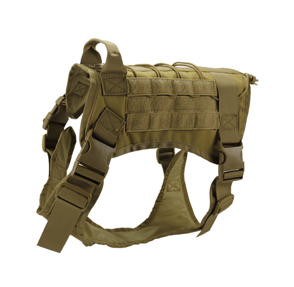 Katastimachling Harnais Khaki / XL Tactical large dog vest dog patrol equipment pet dog clothes K9 chest strap