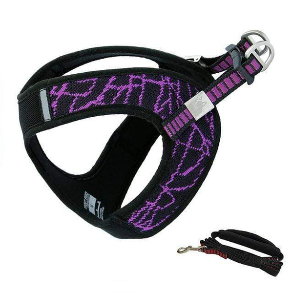 Katastimachling Harnais Purple / Suit / L New pet chest strap V8 comfortable chest back