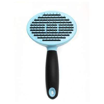 Katastimachling Peignes pour chien blue Steel needle round head dog comb massage hair removal comb