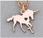 Katastimachling Pendentif Colliers Rose Gold Unicorn Horse unicornio Necklace Magical Licorne