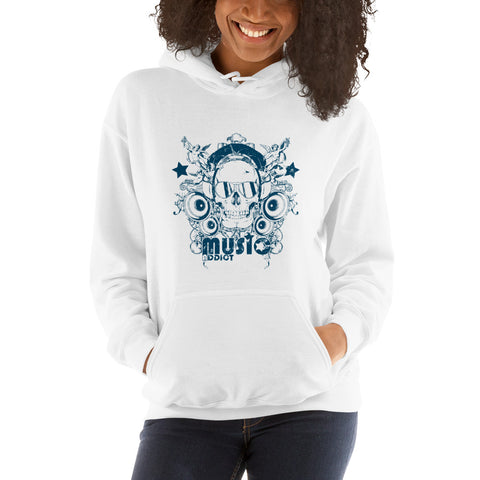 Skull Hoodie Addicted To Music Gift For Music Lovers - Skullarship