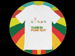 Vegan Tune in Funk out T-Shirt ©Rayspect