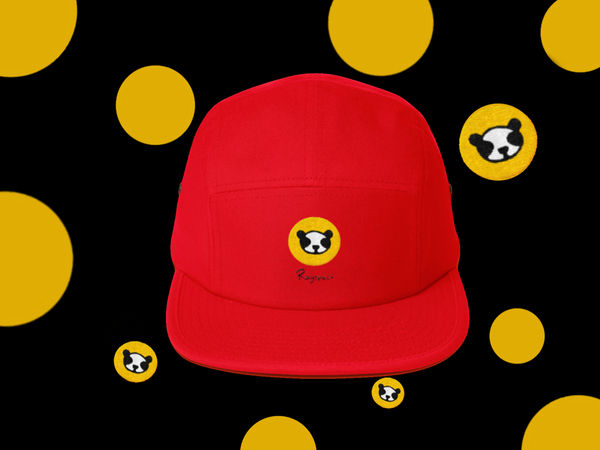 Rayspect panda logo Five Panel Cap ©Rayspect