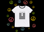Rayspect Peace Ringer T-Shirt ©Rayspect