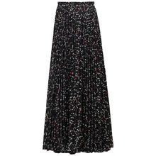 Load image into Gallery viewer, Jolie Moi Pleated Pattern Maxi Skirt, Black Pattern