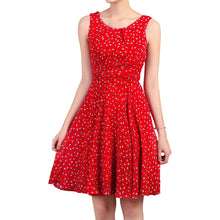 Load image into Gallery viewer, Jolie Moi Floral Print Chiffon Dress, Red Floral