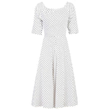 Load image into Gallery viewer, Jolie Moi Scoop Neck Half Sleeved Retro Swing Dress