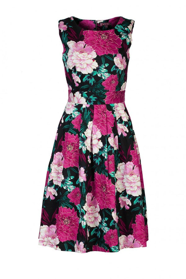Jolie Moi Floral Print Dress, BLACK FLORAL