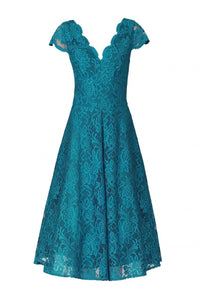 Cap Sleeve Lace Prom Bridesmaid Dress-Jolie Moi