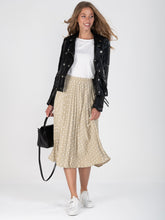 Load image into Gallery viewer, Spotty Pleated Midi Skirt , Taupe