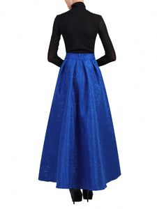 Jolie Moi High Low Hem Prom Skirt, Royal Blue