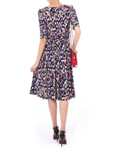 Load image into Gallery viewer, Print Half Sleeve Midi Dress