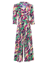 Load image into Gallery viewer, Revere Collar Tie Waist Jumpsuit