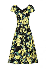 Load image into Gallery viewer, Floral Print V-Neck Swing Dress