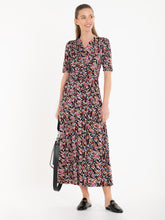 Load image into Gallery viewer, Jolie Moi Amaka Wrap Print Midi Dress, Multi