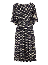 Load image into Gallery viewer, PRE-ORDER Batwing Spotty Jersey Dress, Black Spot