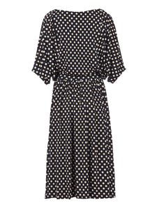 Batwing Spotty Jersey Dress, Black Spot