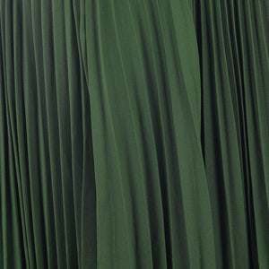 Pleated Crepe Maxi Skirt, Soldier Green