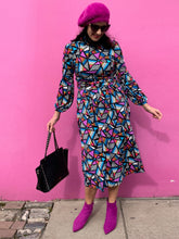 Load image into Gallery viewer, Long Sleeve Jersey Midi Dress