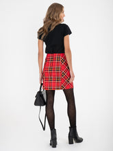 Load image into Gallery viewer, Checked Cotton Mini Skirt , Red Check