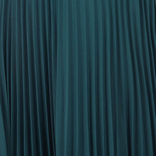Load image into Gallery viewer, Pleated Crepe Maxi Skirt, Teal