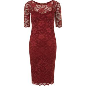 Two In One Lace Midi Dress, Burgundy