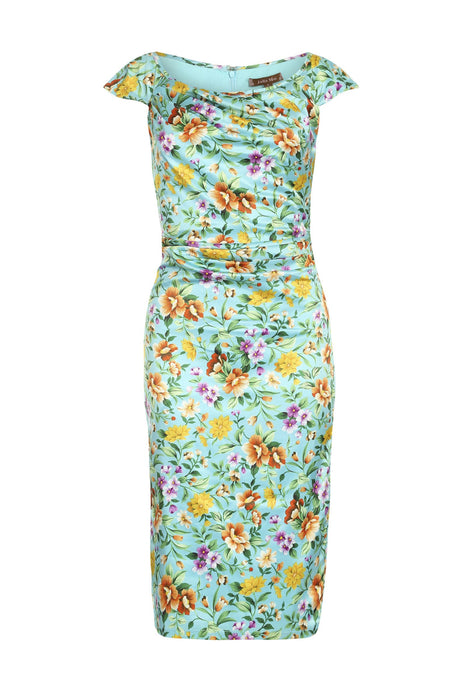 Print Ruched Wiggle Dress