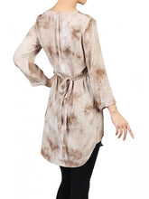 Load image into Gallery viewer, Jolie Moi Tie Dye Tunic Dress, Tan