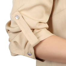 Load image into Gallery viewer, Jolie Moi Button Front Pleated Blouse, Neutral