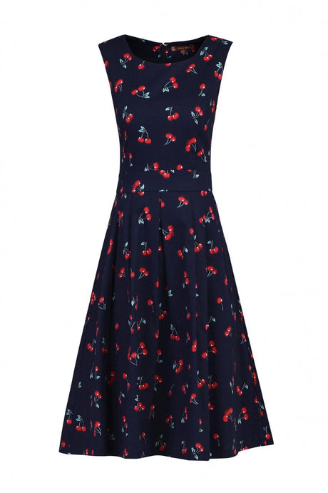Floral Pleated Swing Dress
