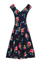 Load image into Gallery viewer, Floral Sweetheart Neck Swing Dress