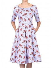 Load image into Gallery viewer, Floral Print Half Sleeve Dress