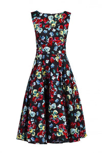 Floral Print Wrap Belted Dress