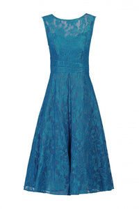 Jolie Moi Lace Bonded Prom Dress, Dark Teal