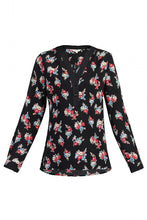 Load image into Gallery viewer, Jolie Moi Floral Print Blouse, Black Floral