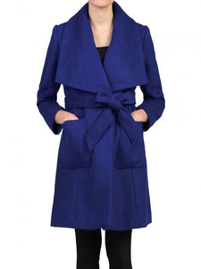 Jolie Moi Wool Blend Wrap Coat