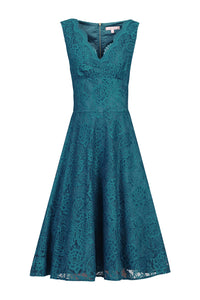 Scalloped Lace Prom Bridesmaid Dress-Jolie Moi