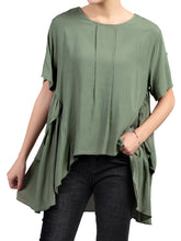 Load image into Gallery viewer, Side Ruched Comfy Blouse