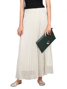 Jolie Moi Polka Dot Maxi Skirt, CREAM / BLACK