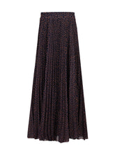 Load image into Gallery viewer, Jolie Moi Print Pleated Maxi Skirt, Navy Star