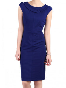 Collared Cap Sleeved Dress