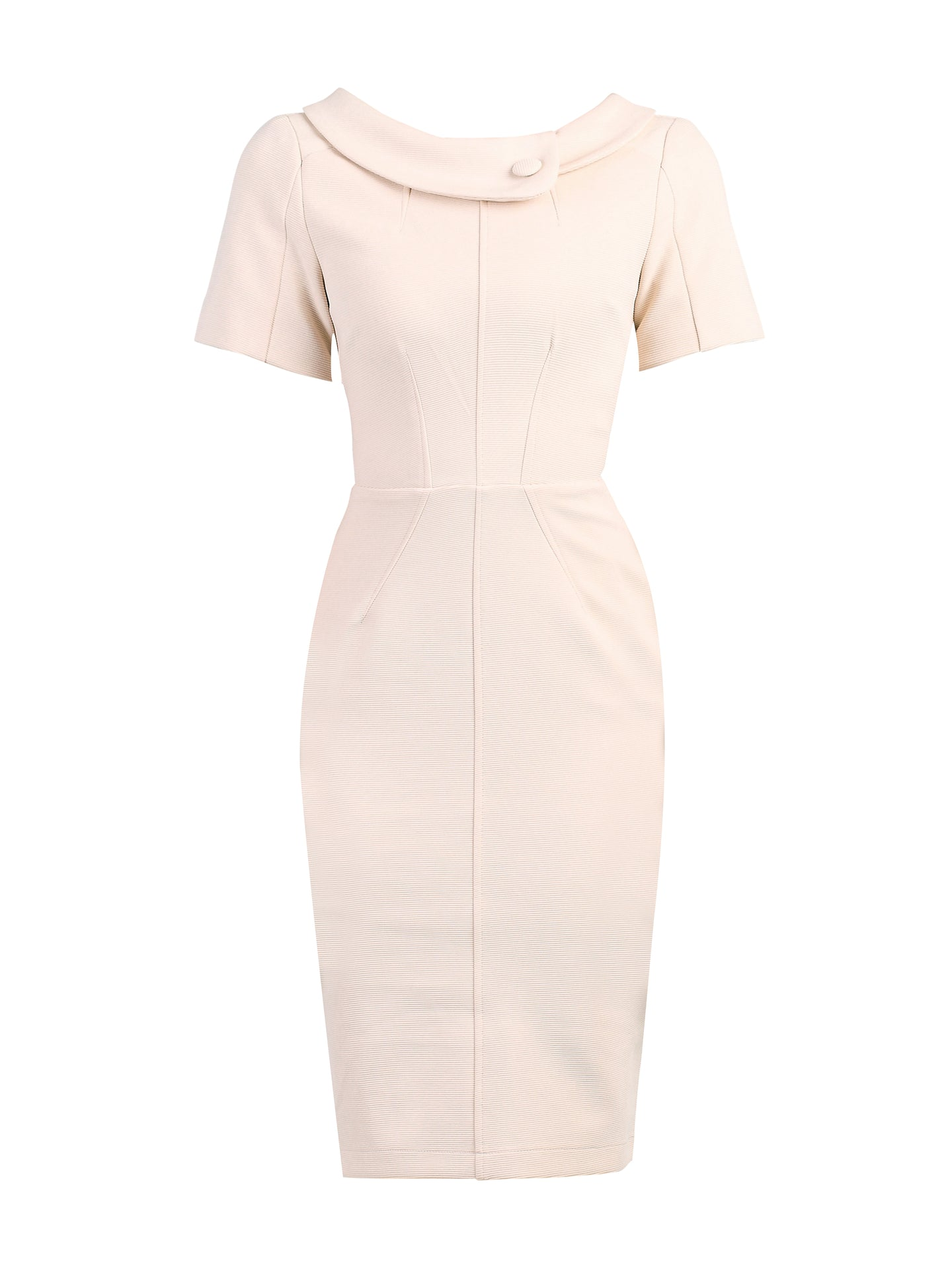 Short Sleeve Collared Bodycon Dress